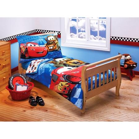 Cars 4 pc toddler bedding set for Disney pixar cars bedroom ideas