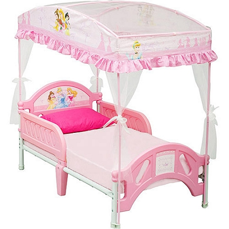 home toddler kids princess canopy toddler bed part number 55 0 review ...