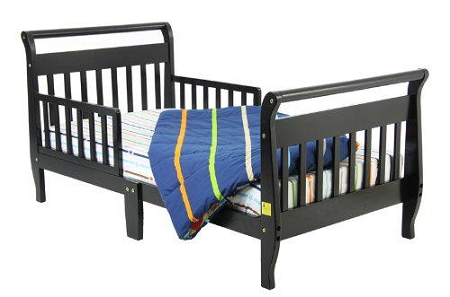 Sleigh Toddler Bed In Black
