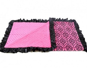 Hot Pink Crown Custom Blanket