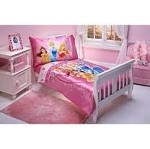 Princess 4 PC Toddler Bedding set