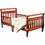 Sleigh Toddler Bed In Cherry