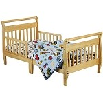 Sleigh Toddler Bed In Natural